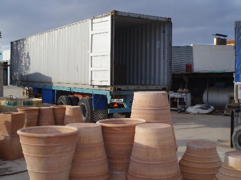 The Grecian Urn container ready for loading for 