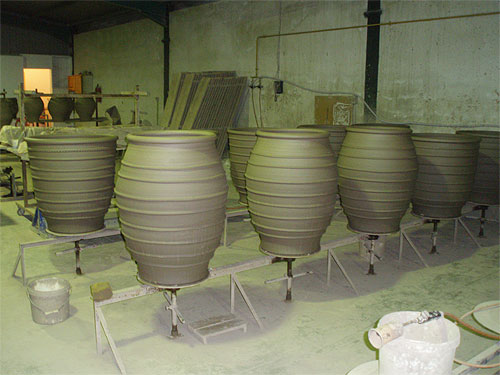 Cretan pots ready for firing