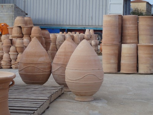 Grecian Urns being packed for Australia